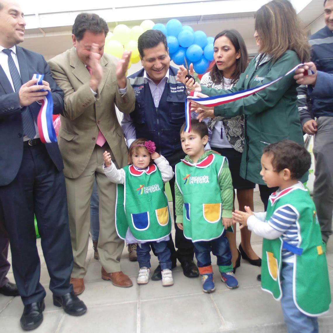 Autoridades de Integra inauguran nuevo jardín infantil y sala cuna en la comuna de Quillota