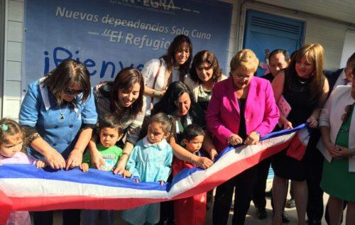 Presidenta Bachelet inaugura nueva sala cuna en Calera de Tango