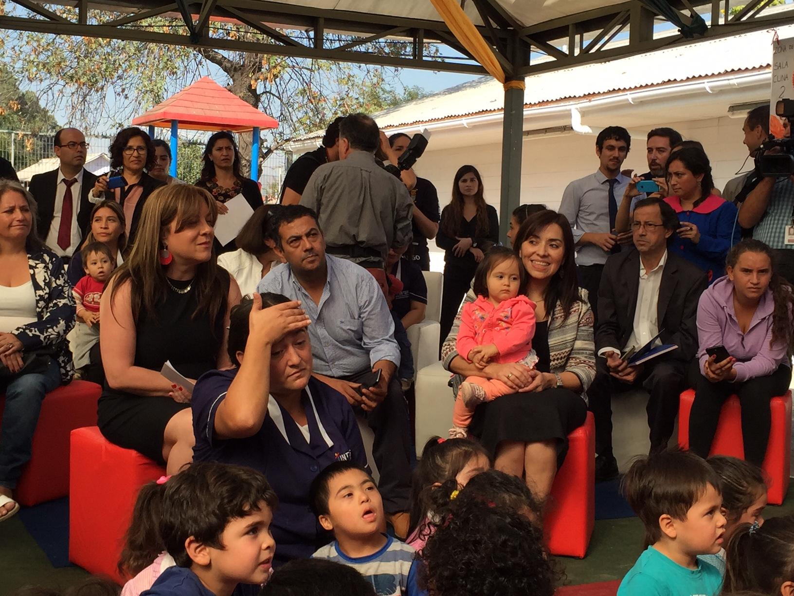 Inicio del año preescolar en nueva sala cuna El Refugio donde participó la Presidenta Michelle Bachelet.
