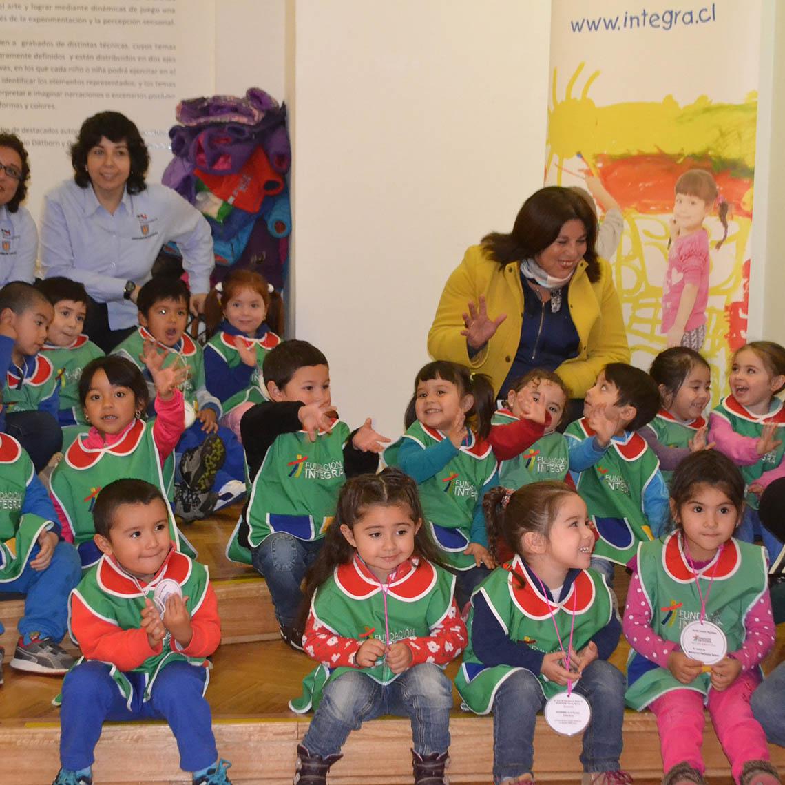 Niños del Jardín Montehue reinterpretan obras de artistas nacionales
