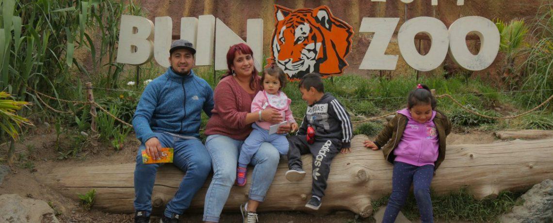 Niños y niñas del jardín infantil de Pudahuel visitaron el Buin Zoo