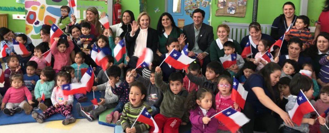 Cecilia Morel visitó jardín infantil Integra promotor de la cultura y las tradiciones