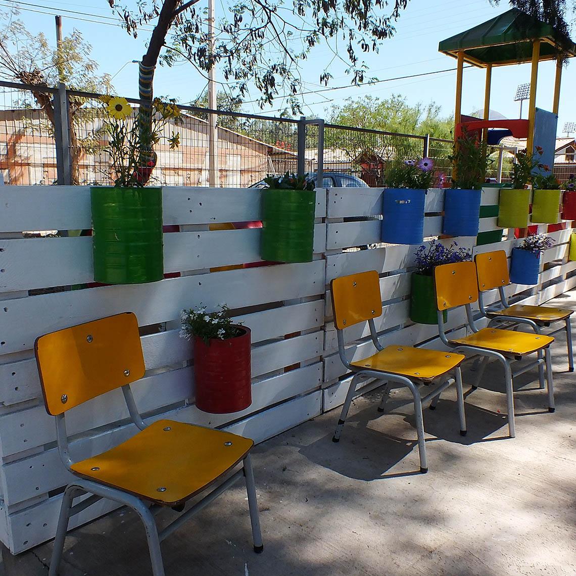 Intervención de áreas verdes en el Jardín.