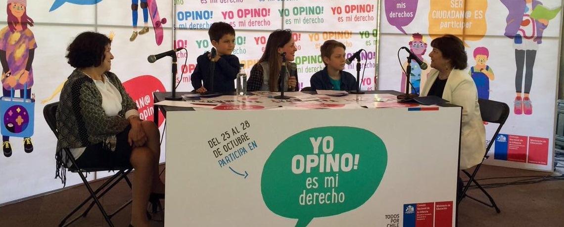 Niños y niñas protagonizan lanzamiento de Yo Opino
