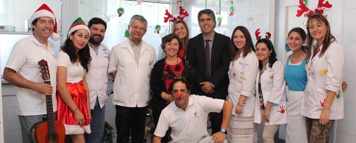 Integra llevó la Navidad al Hospital de Talca