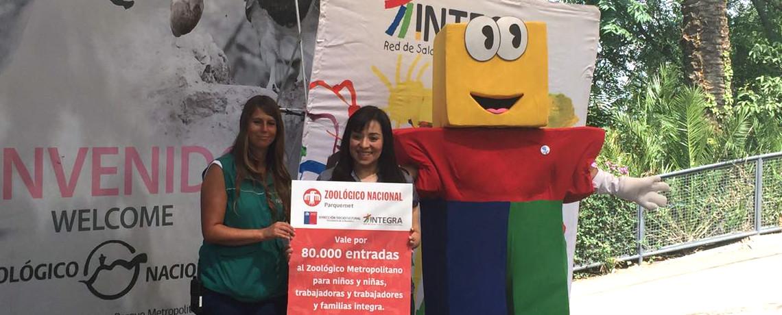 Zoológico de Santiago regala 80 mil entradas a niños y niñas de Integra
