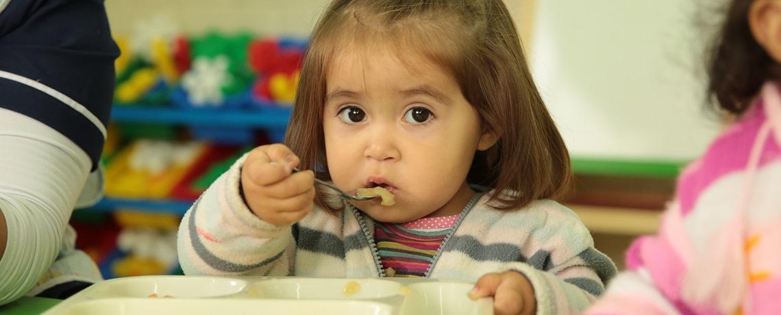 Comer y crecer sano en el jardín infantil