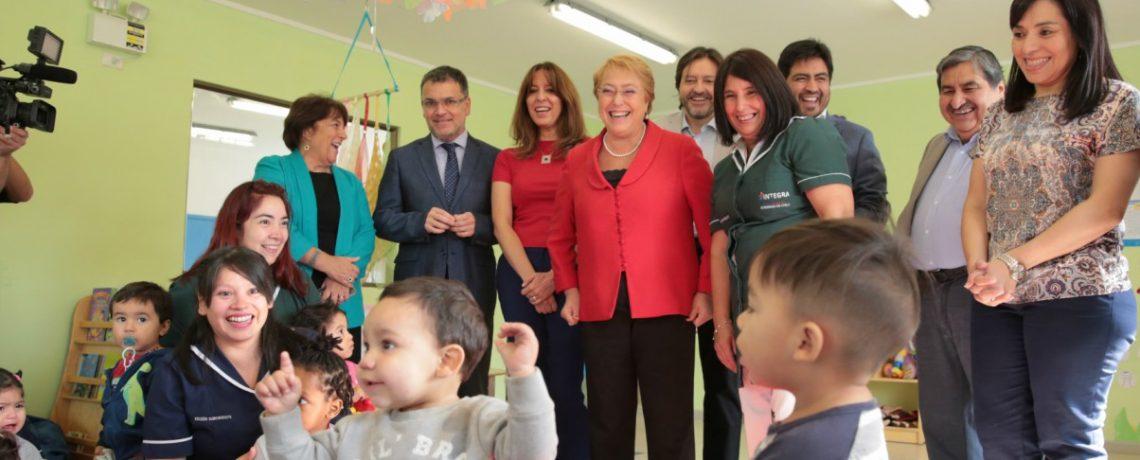 Presidenta Michelle Bachelet da inicio a año parvulario inaugurando nueva sala cuna