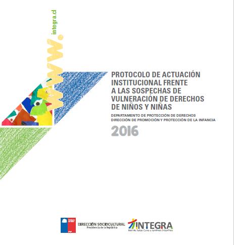 Protocolo de actuación institucional frente a las sospechas de vulneración de derechos de niños y niñas