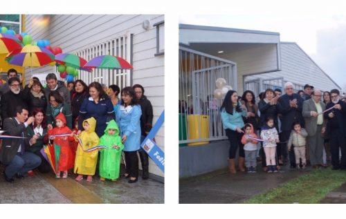 Ministro de Medioambiente inaugura dos jardines infantiles en Los Ríos