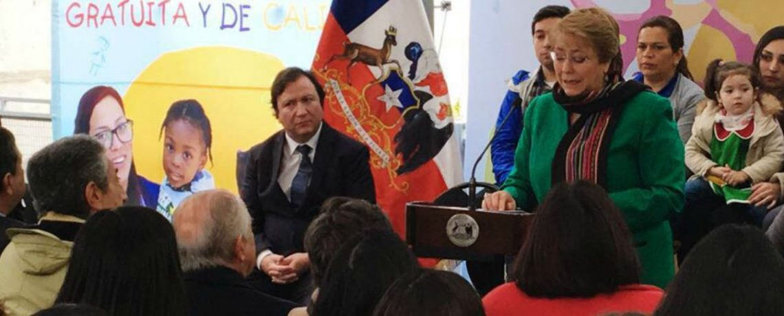 Presidenta Bachelet inaugura jardín infantil Mundo de Colores en Talca