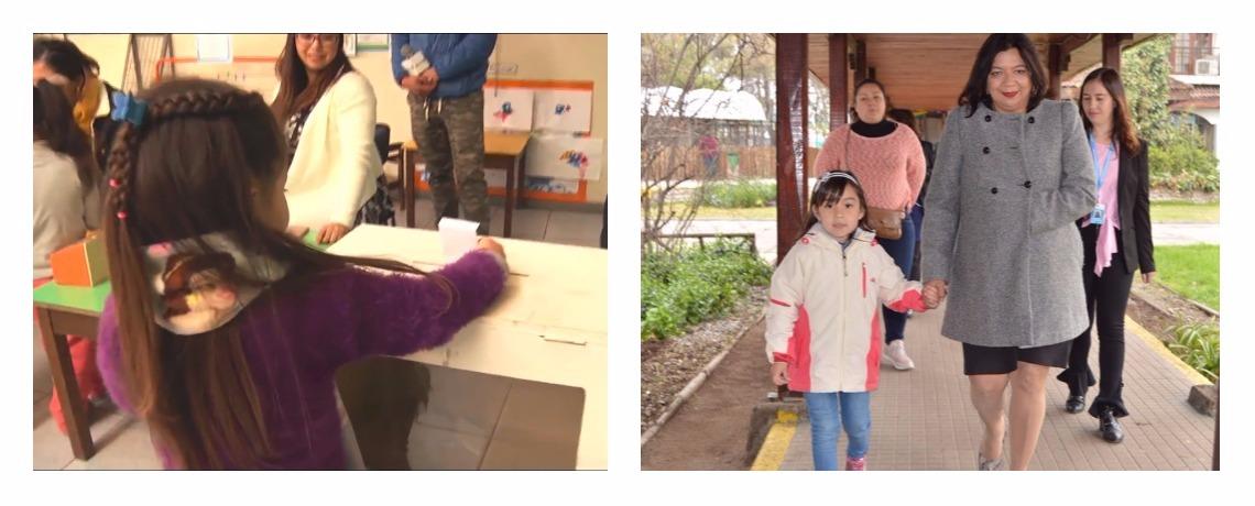 Párvulos de jardín infantil de La Pintana eligieron a su Presidenta