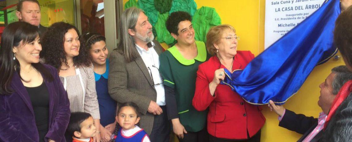Presidenta Bachelet inaugura nuevo jardín Integra para 144 niños