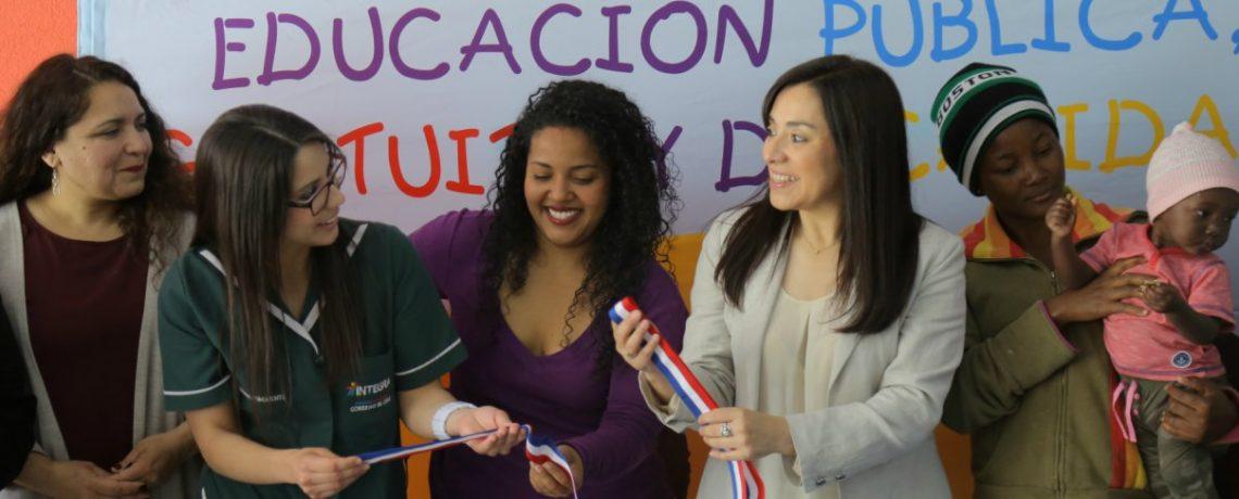 Inauguración de jardín infantil en San Joaquín hace realidad la educación de calidad