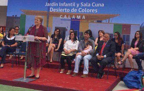 Presidenta Bachelet inaugura jardín infantil en Calama