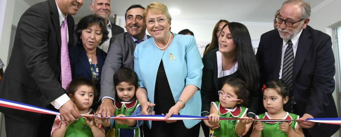 Presidenta Bachelet inaugura nuevo jardín infantil para 96 niños en Talca