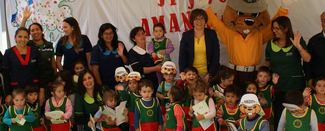 Forestín visitó a niños de jardines infantiles de O'Higgins