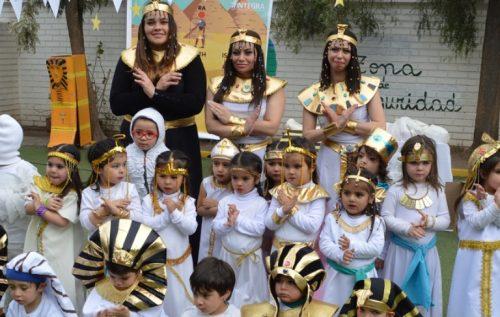 Los egipcios llegaron al jardín infantil Cardenal Silva Henríquez