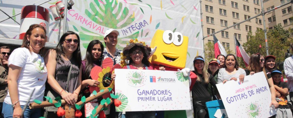 """""""Carnaval por la infancia"""" se tomó el Paseo Bulnes"""