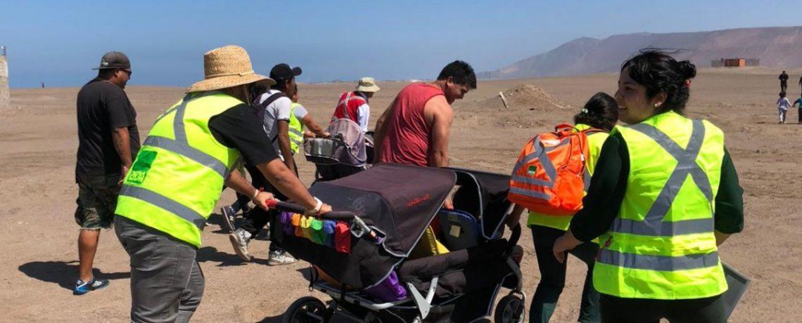 Masiva evacuación de niños en simulacro en región de Tarapacá