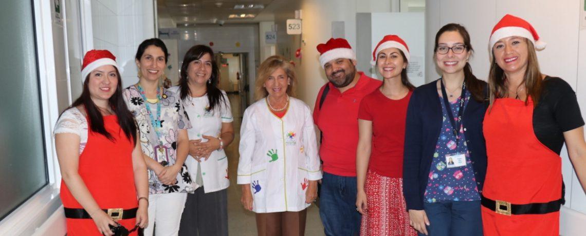 Integra adelantó la Navidad para los niños del Hospital de Talca