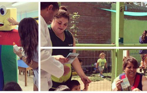 Reforzando los cuidados a los niños por la Radiación Solar