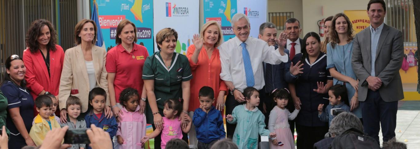 Presidente Piñera y Primera Dama inauguran Año Parvulario