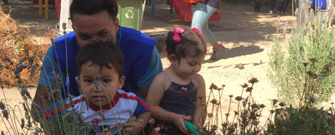 Integra, Cultiva y el colegio Nido de Águilas construyen patios que educan