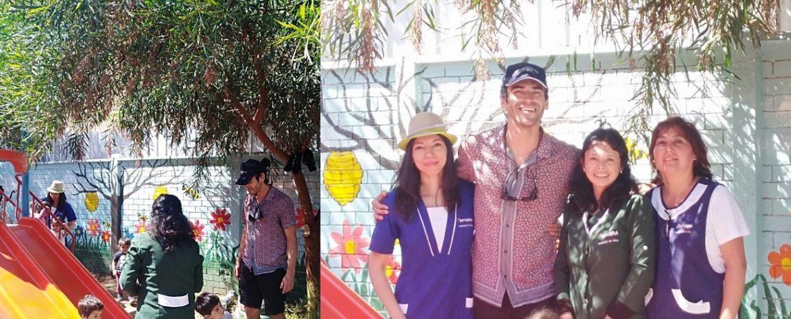 Actor Pablo Cerda visita jardín infantil Millapel