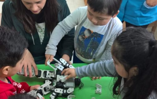 Robot EduLab visita jardín infantil de Puerto Montt
