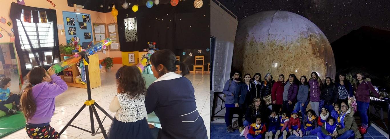 Niños y niñas conocieron el universo en Jardín Flor del Valle