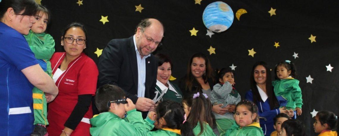 #EclipseSolar: Ministro del Obras Públicas visitó jardín de Vicuña