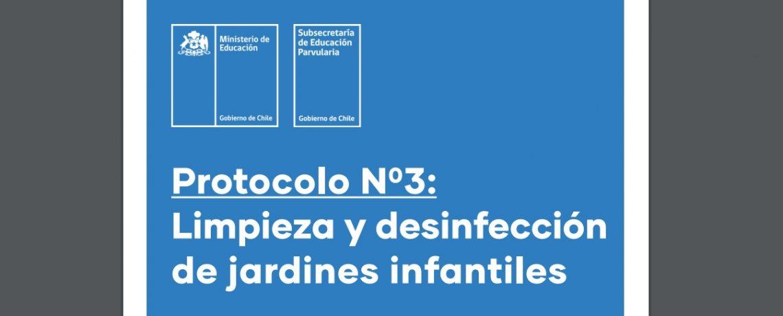 Protocolo N° 3 Limpieza y desinfección de jardines infantiles