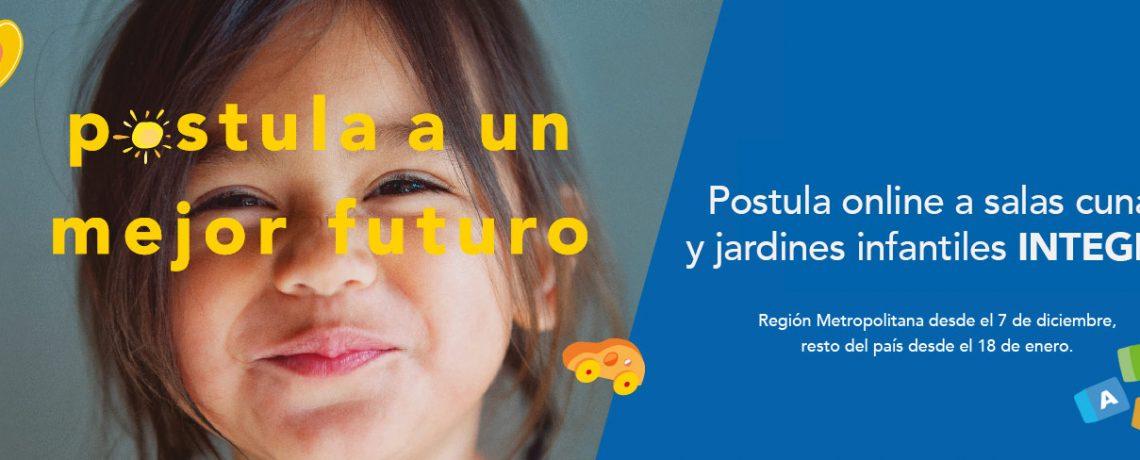 Integra anuncia postulación online 2021 para sus jardines infantiles