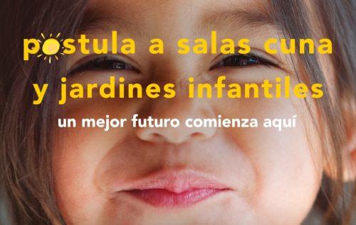 Se inicia postulación online 2022 para  salas cuna y jardines infantiles